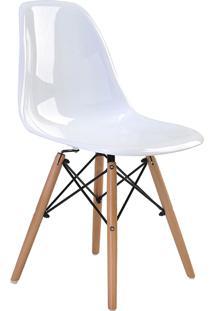 Cadeira Eif.S/Br Pc Branco Solido Base Madeira Rivatti - Branco - Dafiti
