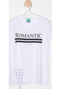"""Blusa """"Romantic"""" Com Amarração- Branca & Preta- Malwmalwee"""