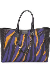 Bolsa Feminina Shopping Bag Tricot - Preto