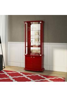 Cristaleira 4 Portas Monalisa Vermelho - Imcal
