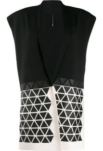 Pierantoniogaspari Cardigan Com Estampa Geométrica - Preto