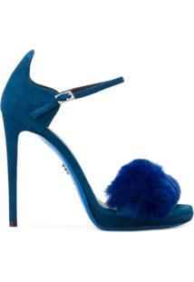 Loriblu Sandália Com Pele - Azul
