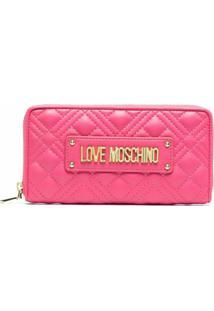 Love Moschino Carteira Com Placa De Logo - Roxo