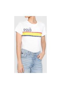 Blusa Polo Ralph Lauren Listrada Branca