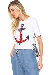 Camiseta Lez A Lez Ilhoses Branca - Branco - Feminino - Algodã£O - Dafiti
