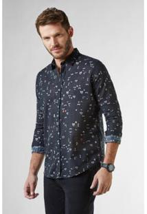 Camisa Regular Patria Reserva Masculina - Masculino-Preto