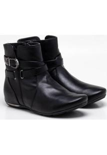 Ankle Boot Comfortflex Preta 34
