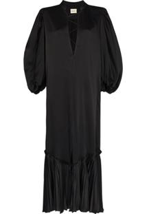 Khaite Vestido Longo Bianca - Preto