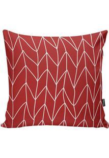 Capa Para Almofada Lines- Vermelha & Branca- 45X45Cmstm Home