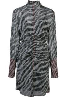 Rag & Bone Vestido Com Animal Print - Preto