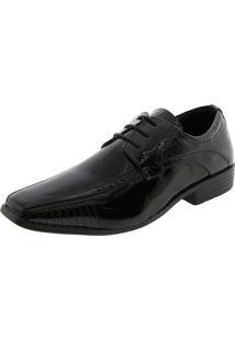 Sapato Masculino Social Verniz/Preto Broken Rules - 89122