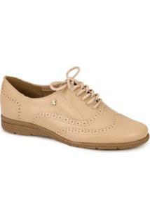 31fe9af65 Posthaus. Sapato Oxford Bottero Vazado Nude