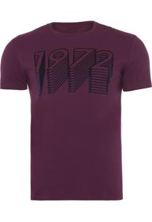 Camiseta Masculina Gradient 1972 - Vinho