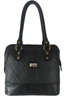 Bolsa Sacola Topgrife Shopper Couro Feminina - Feminino-Preto