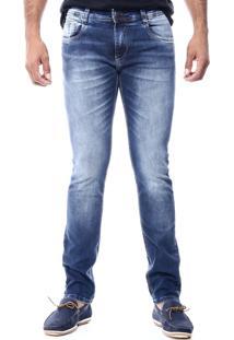 Calça Jeans Sawary Lavagem Azul