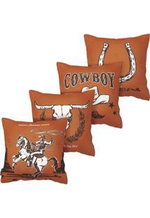 Kit Com 4 Capas Para Almofadas De Cowboy Armonizzi Store