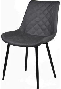 Cadeira Canti Estofada Corino Preta Com Base Preta - 58173 - Sun House