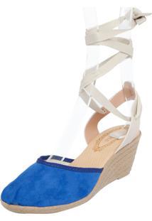 Scarpin Fiveblu Anabela Azul