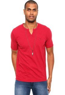 Camiseta Polo Play Flamê Vermelha