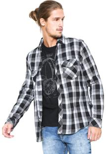 85b06dec0e Camisa Malwee Xadrez Slim Preta