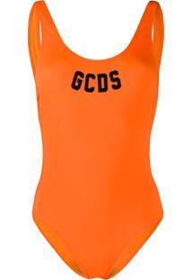 Gcds Maiô Com Logo - Laranja