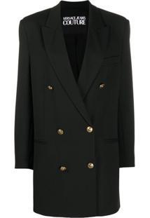 Versace Jeans Couture Casaco Com Abotoamento Duplo - Preto