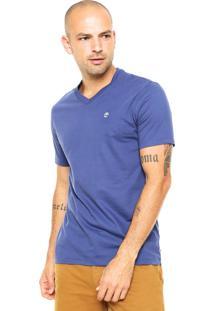 Camiseta Timberland Estampada Azul