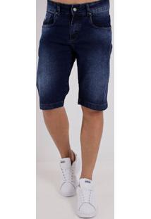 Bermuda Jeans Masculina Bivik Azul