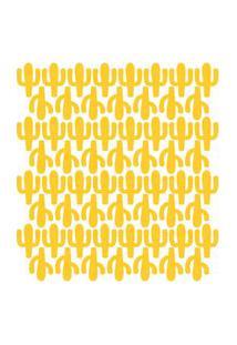 Adesivo De Parede Infantil Cactos Amarelos 60Un