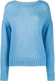 Closed Suéter Com Ombros Caídos - Azul