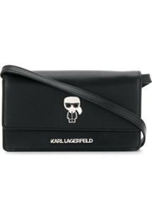 Karl Lagerfeld Bolsa Transversal 'K/Ikonik' - Preto