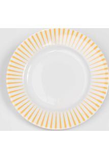 Prato Para Sobremesa Porcelana Schmidt - Dec. Sol Amarelo