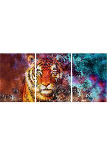 Quadro Decorativo Tigre Estampado