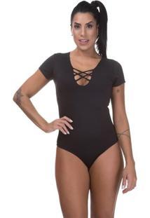 Body Miss Blessed Suplex - Feminino-Preto