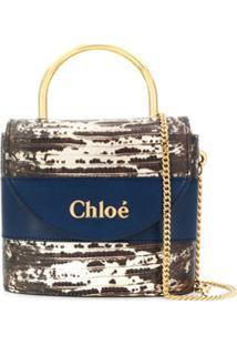 Chloé Small Aby Lock Bag - Azul