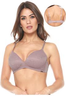 Sutiã Calvin Klein Underwear Triângulo Renda Rosa
