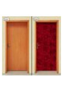 Adesivo Decorativo De Porta - Rosas - Flores - 1914Cnpt