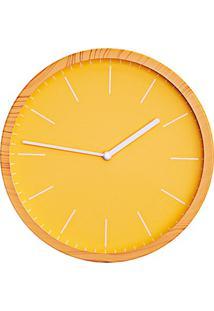 Relógio De Parede Fit 25Cm Amarelo
