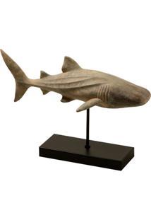 Escultura Decorativa De Resina Predador Do Oceano