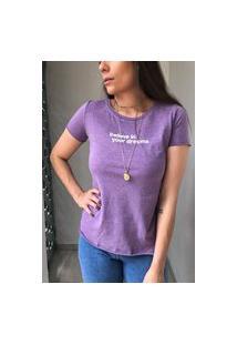 Camiseta Algodão - Roxa