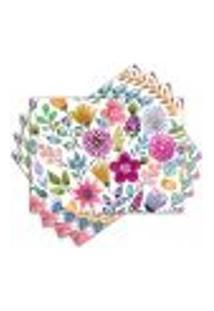 Jogo Americano - Flores Com 4 Peças - 1106Jo