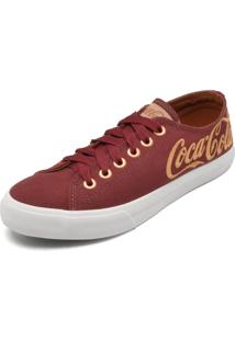 Tênis Coca Cola Shoes Logo Vinho