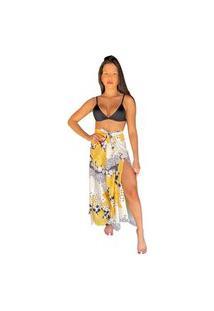Calça Envelope San Maré Estampada Flores Amarelo/Bola -