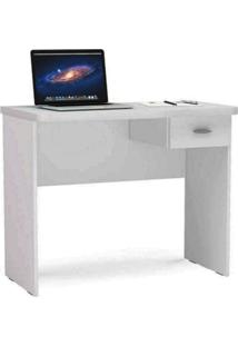 Mesa Para Computador Com 1 Gaveta Resende - Politorno - Branco