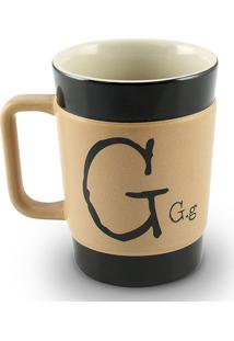Caneca Coffe To Go- G 300Ml-Mondoceram - Pardo