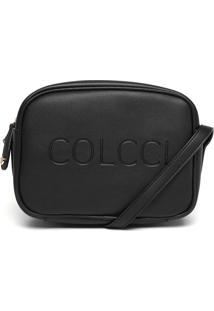 Bolsa Transversal Colcci Logo Preta