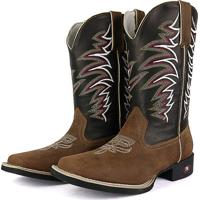 b2107eb678 Bota Country Texana Sapatofran Bico Quadrado Tribal Preto