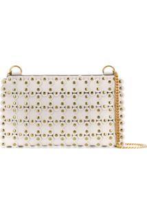Red Valentino Red (V) Flower Puzzle Crossbody Bag - Branco