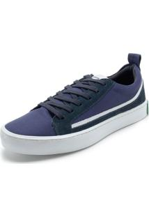 Tênis Calvin Klein Recortes Azul