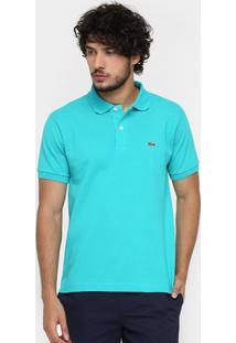 ... Camisa Polo Lacoste Piquet Original Fit Masculina - Masculino-Azul Claro f453e52dde